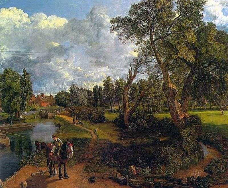 Flatford mill (Scene on the navigable river) by John Constable