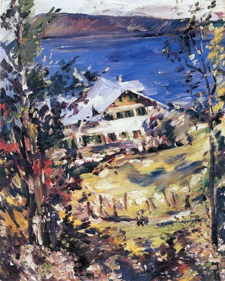 Peasant House in Walchensee by Lovis Corinth