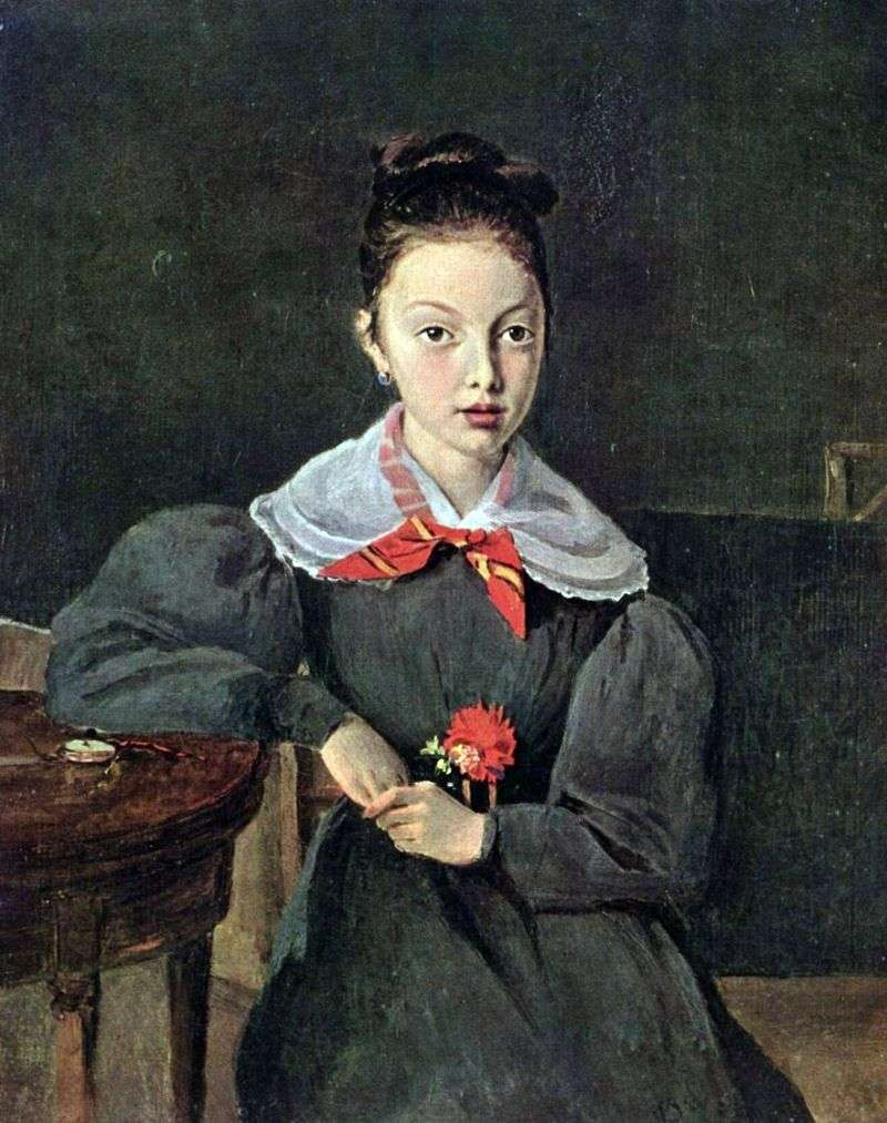 Portrait of Octavia Signegon by Camille Corot
