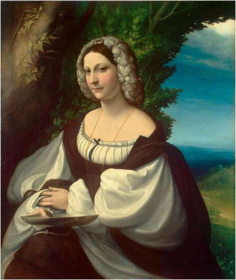 Female portrait by Correggio (Antonio Allegri)