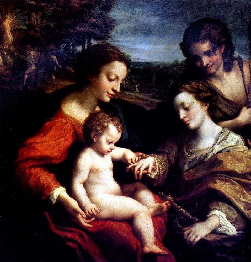 Betrothal of St. Catherine by Correggio (Antonio Allegri)