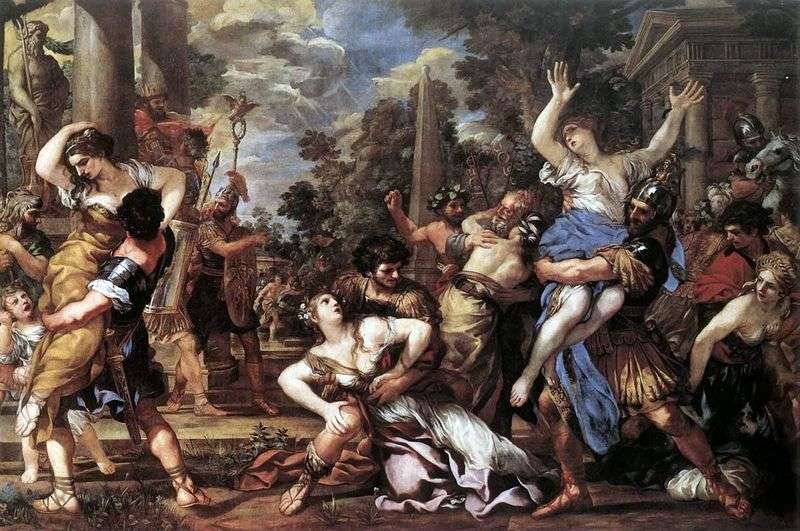 The abduction of Sabine women by Pietro da Cortona