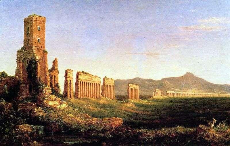 The aqueduct near Rome by Thomas Cole