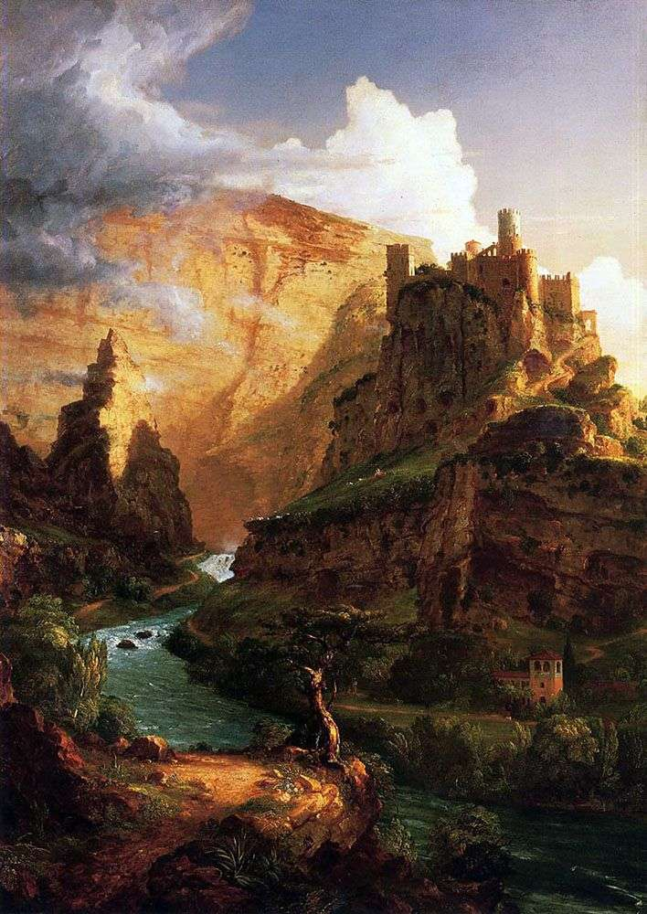 Castle on the mountain by Thomas Cole