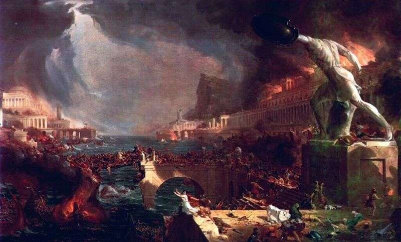 The Fall of the Roman Empire by Thomas Cole