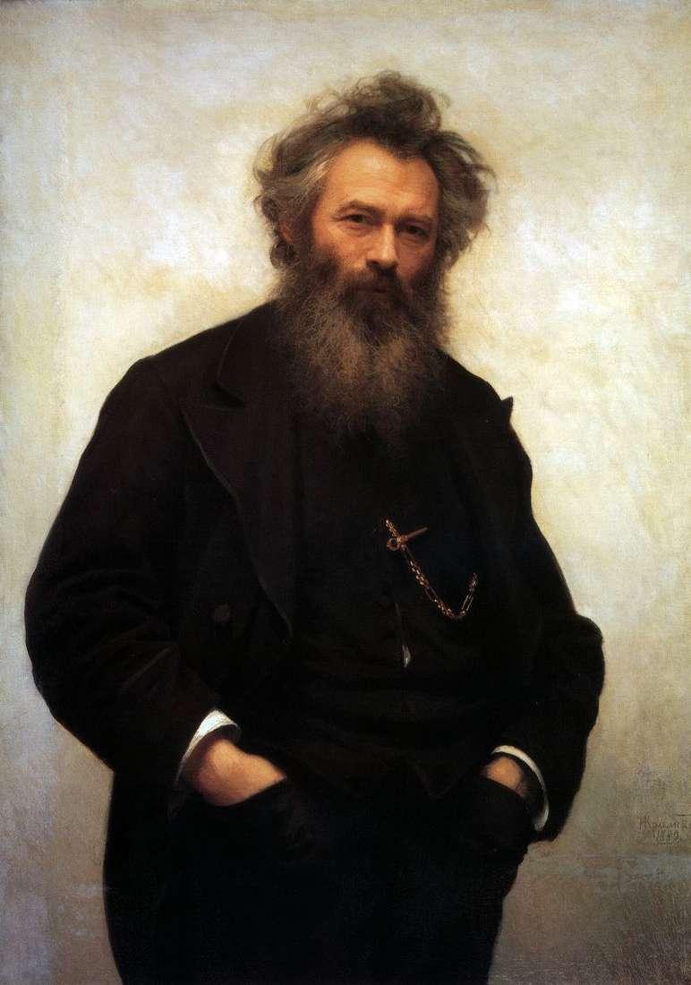 Portrait of Ivan I. Shishkin by Ivan Kramskoy