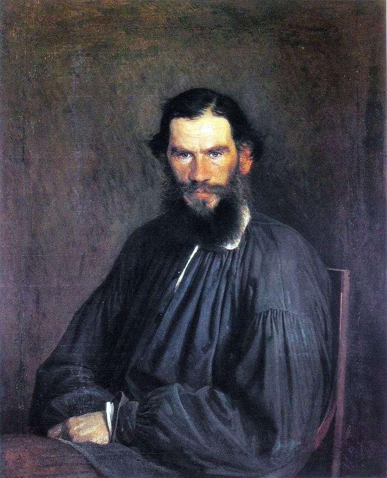 Portrait of Leo Tolstoy by Ivan Kramskoy