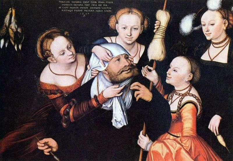 Hercules beside Omphala by Lucas Cranach