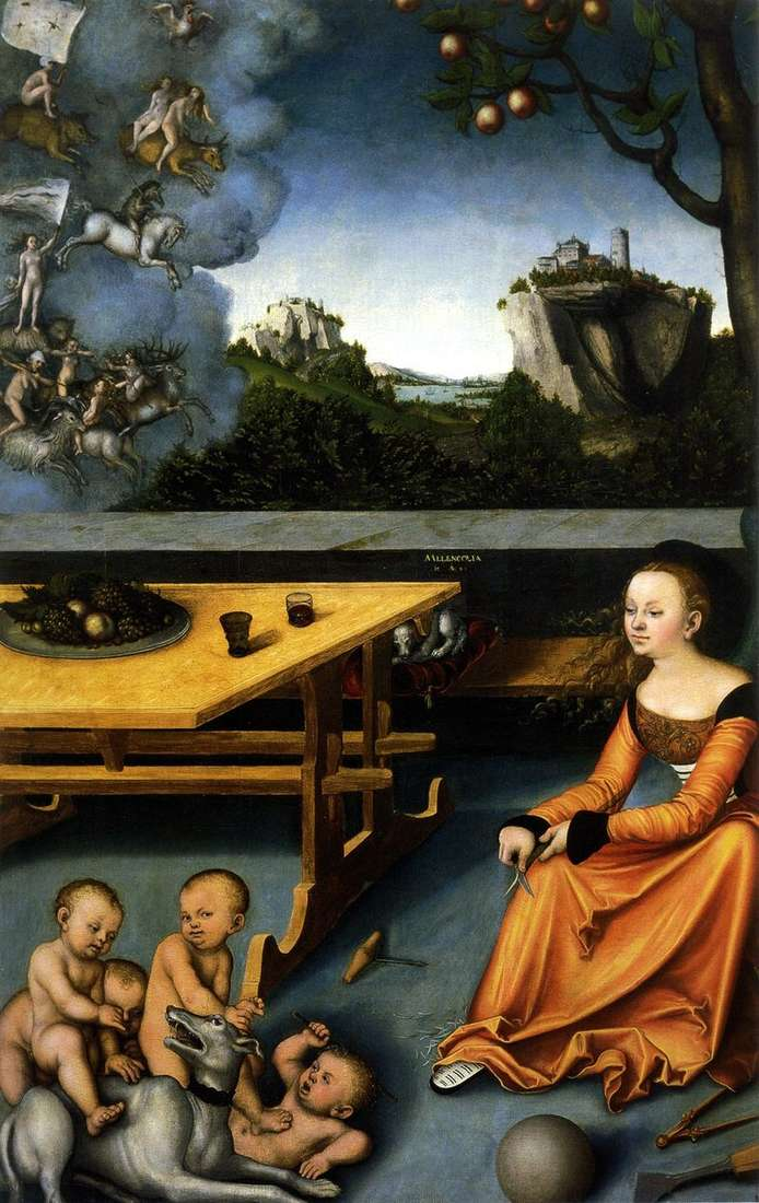 Allegory of Melancholy by Lucas Cranach
