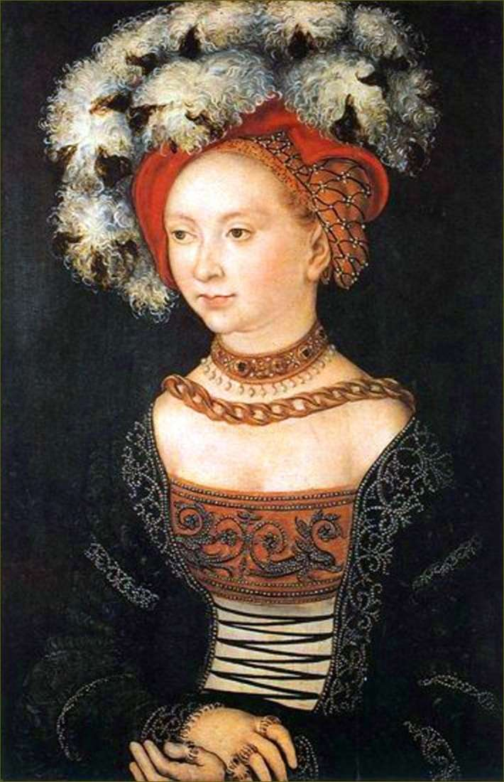 Young woman by Lucas Cranach