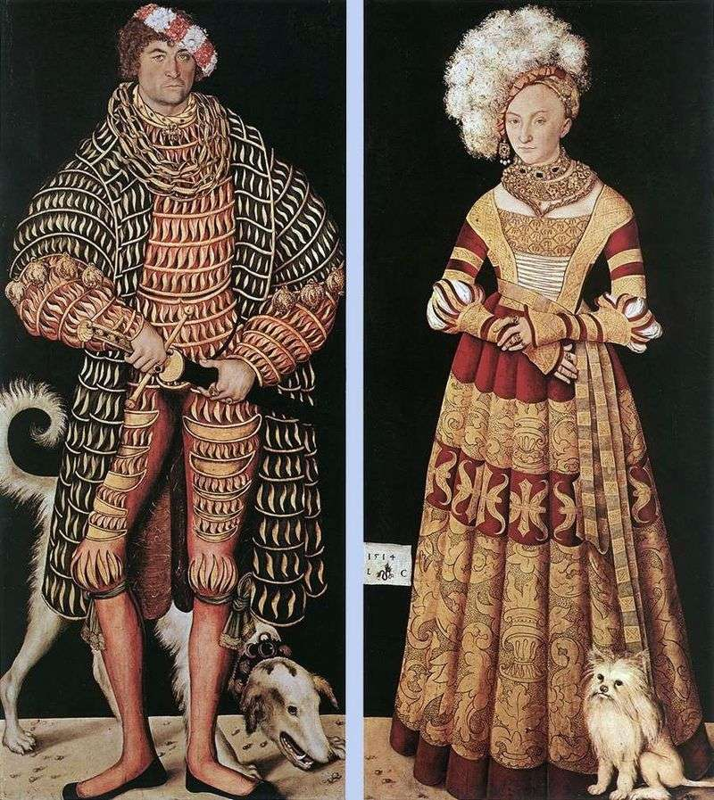 Portrait of Duke Henry the Pious and his wife Catherine of Mecklenburg by Lucas Cranach
