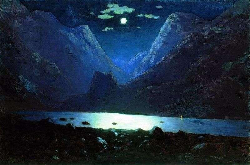 The Daryal Gorge. Moonlit Night by Arkhip Kuinji