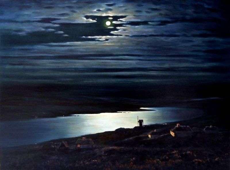 Moonlit Night on the Dnieper by Arkhip Kuinji