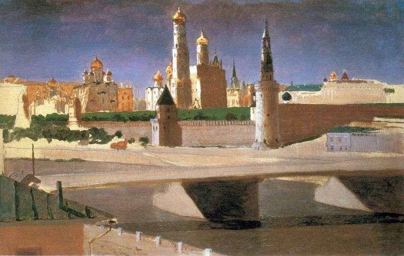 Moscow. View of the Kremlin from Zamoskvorechye by Arkhip Kuinji