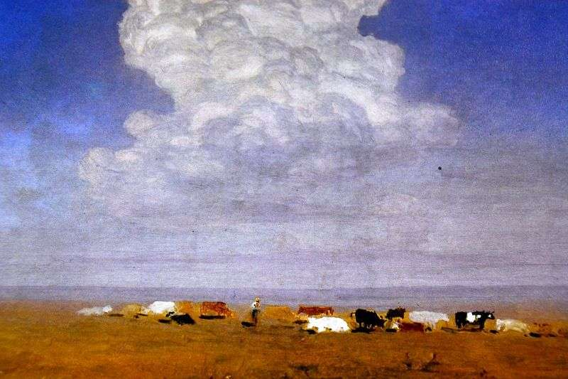 Noon. Herd in the Steppe by Arkhip Kuindzhi