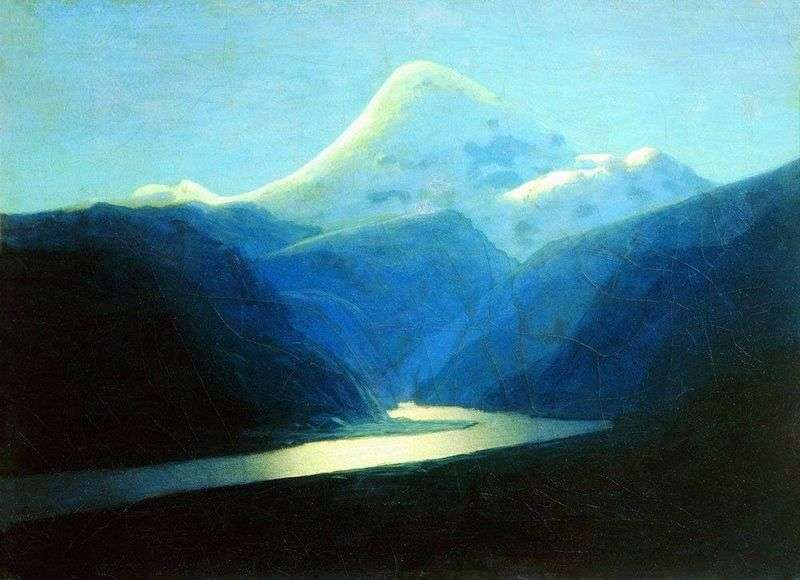 Elbrus in the evening by Arkhip Kuinji