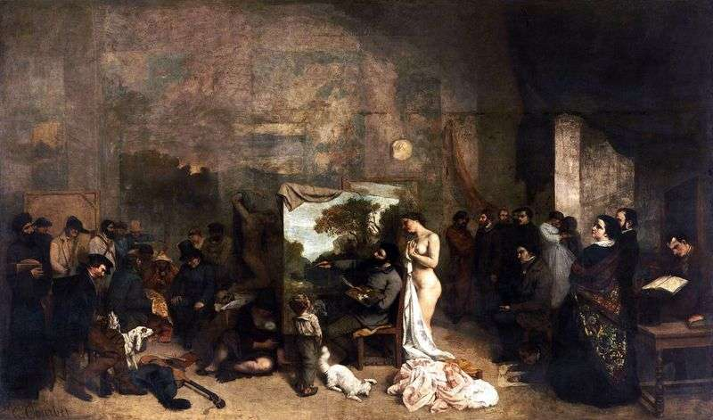 Artists Workshop by Gustave Courbet