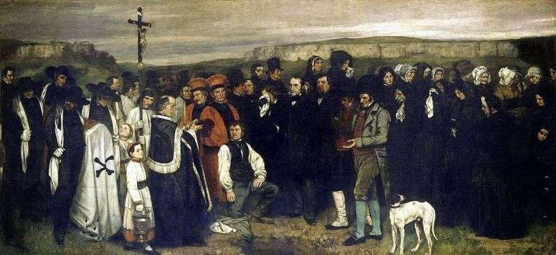 Funeral in Ornan by Gustave Courbet
