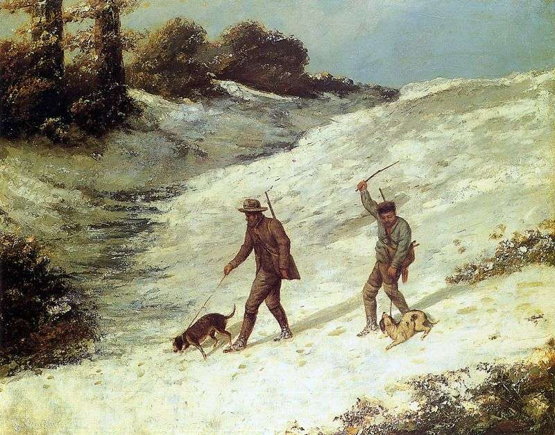 Scenes of hunting by Jean Desire Gustave Courbet