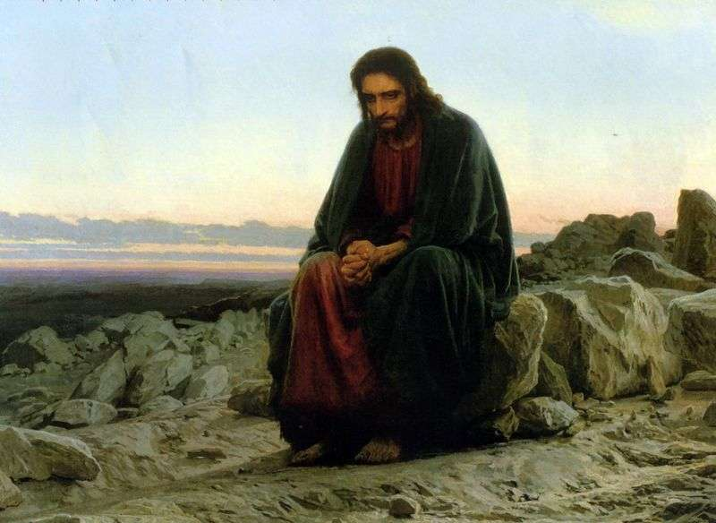 Christ in the desert by Ivan Kramskoy