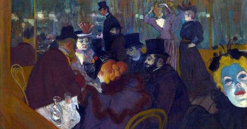 In Moulin Rouge by Henri de Toulouse Lautrec