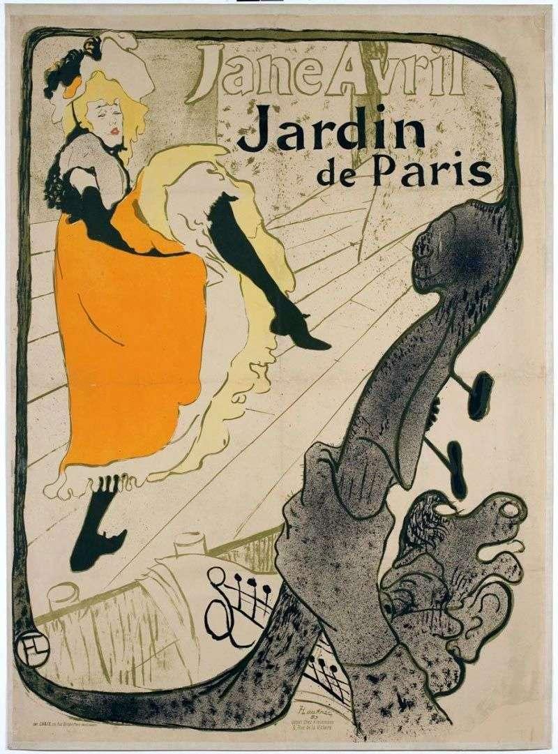 Jane Avril (Jane Avril in the Jardin de Paris) by Henri de Toulouse Lautrec