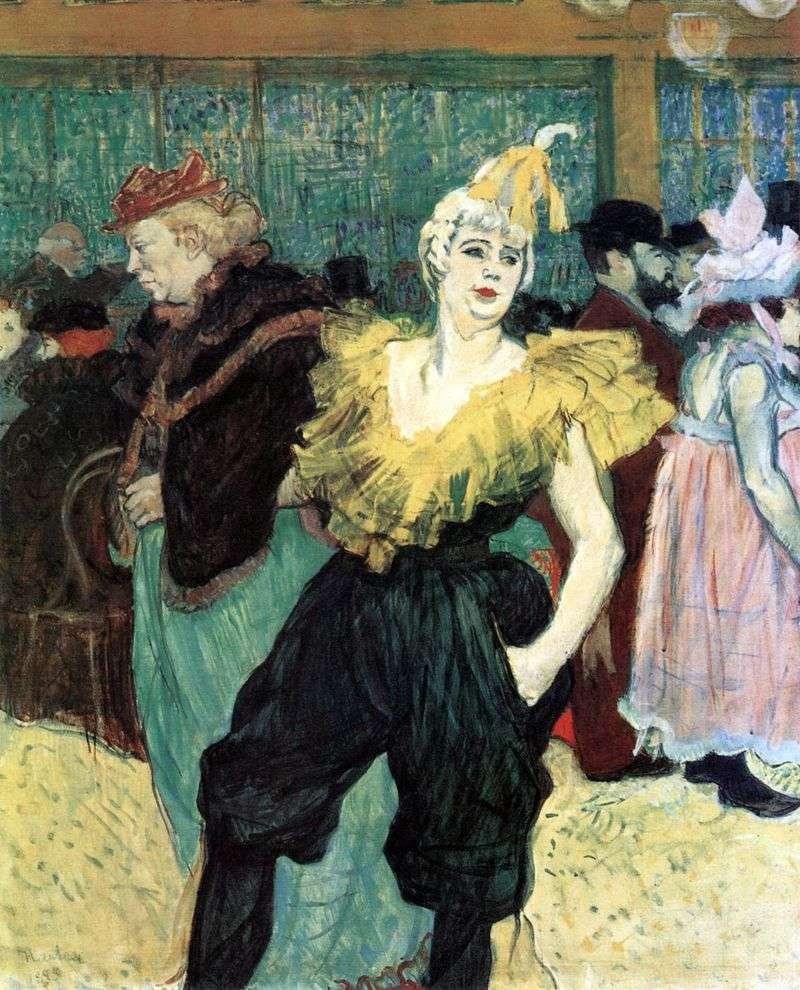 Clowness Sha Yu Kao by Henri de Toulouse Lautrec