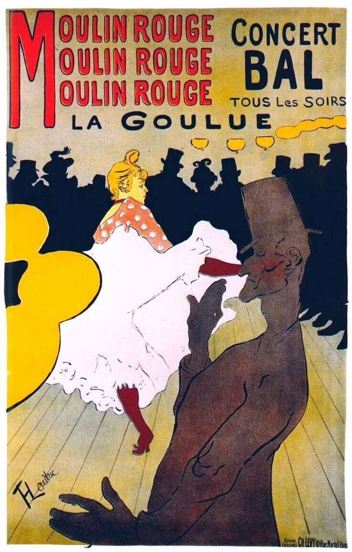 La gulyu in the Moulin Rouge by Henri de Toulouse Lautrec