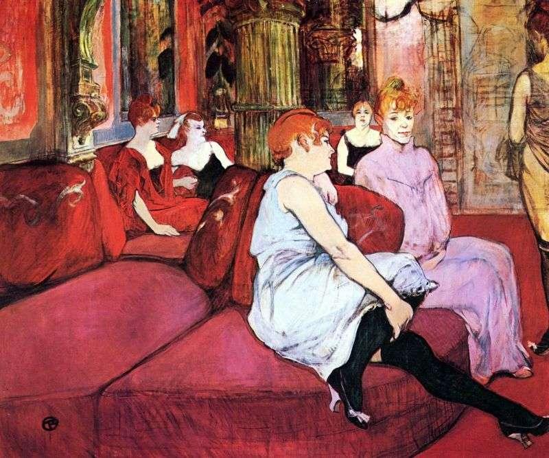 Salon in Moulin Street by Henri de Toulouse Lautrec