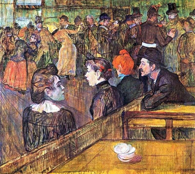 Ballroom in Moulin de la Galette by Henri de Toulouse Lautrec