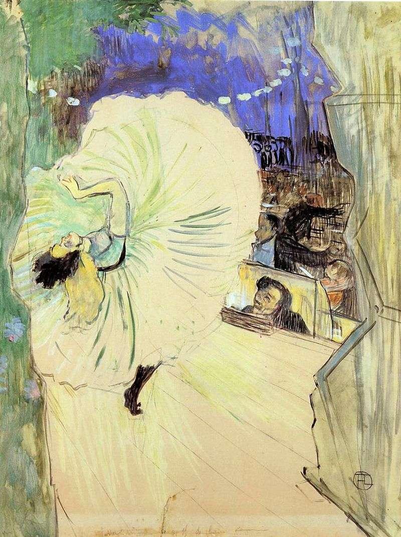 Dancer (Wheel) by Henri de Toulouse Lautrec