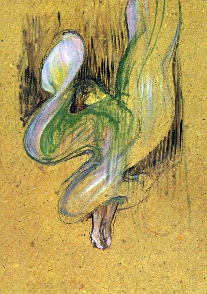Study for lithography Loyer Fuller in Foli Ber jer by Henri de Toulouse Lautrec