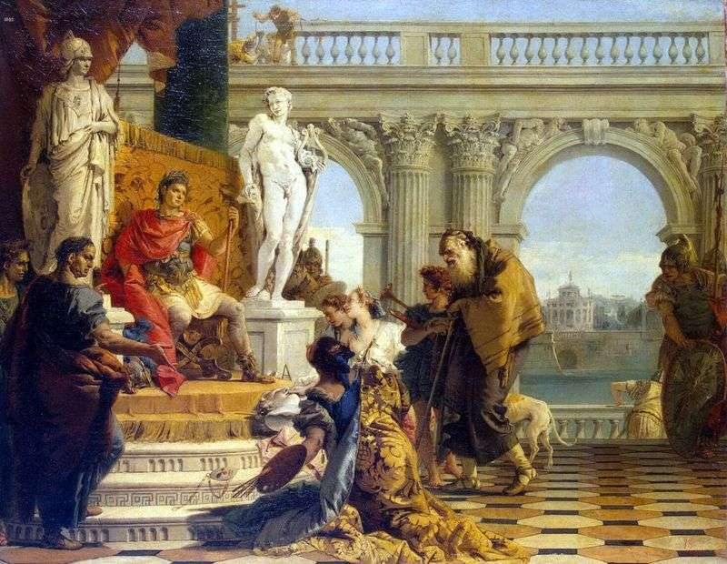 Maecenas presents emperor Augustus with free art by Giovanni Battista Tiepolo