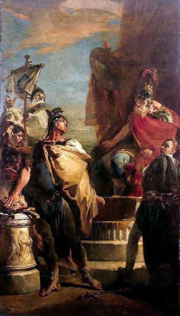 Mucio Scaevola in the camp of Porcennes by Giovanni Battista Tiepolo