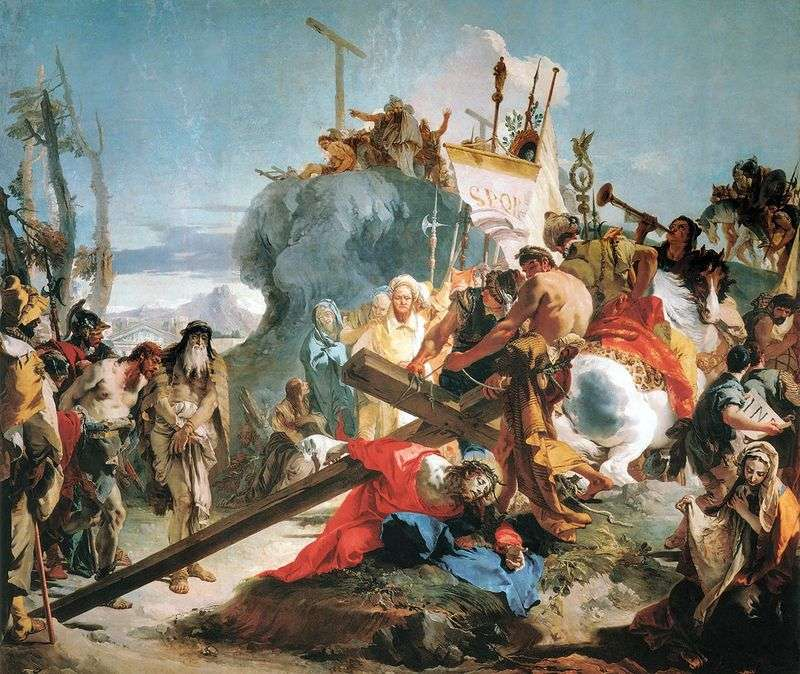 Carrying the Cross by Giovanni Battista Tiepolo