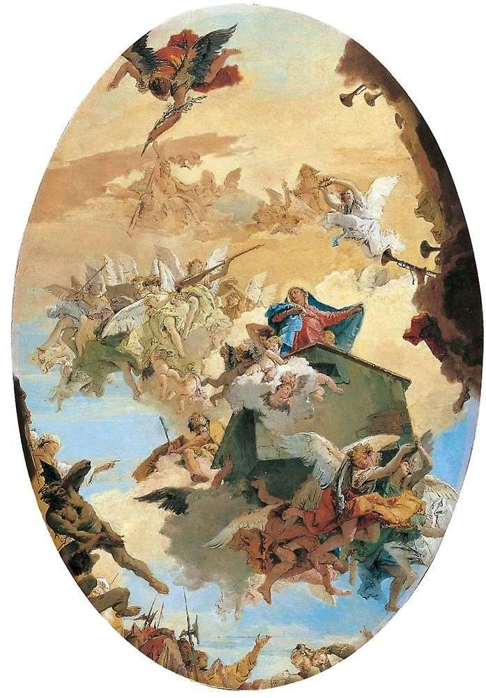 Moving the house of Mary of Nazareth in Loreto by Tiepolo