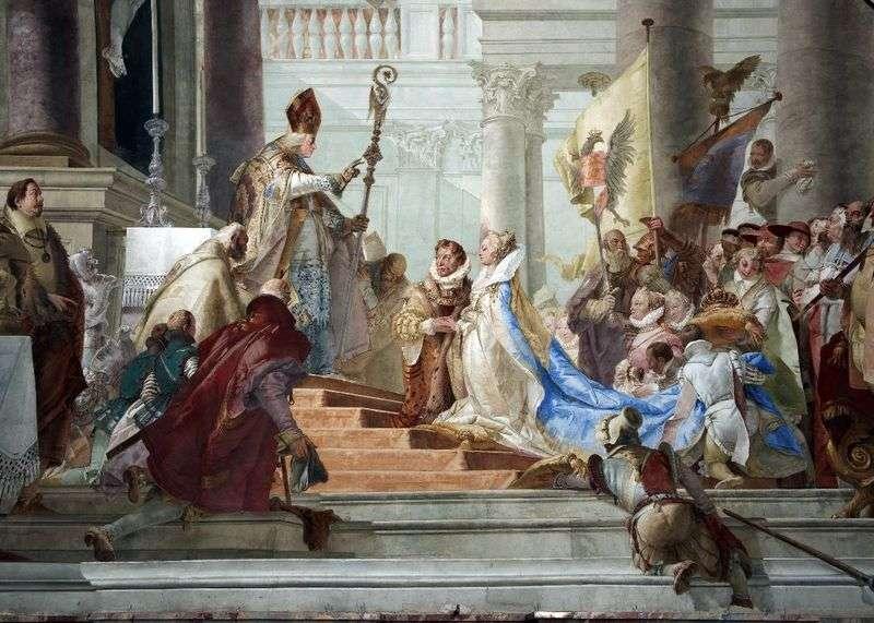 The wedding of Friedrich Barbarossa and Beatrice of Burgundy by Giovanni Battista Tiepolo