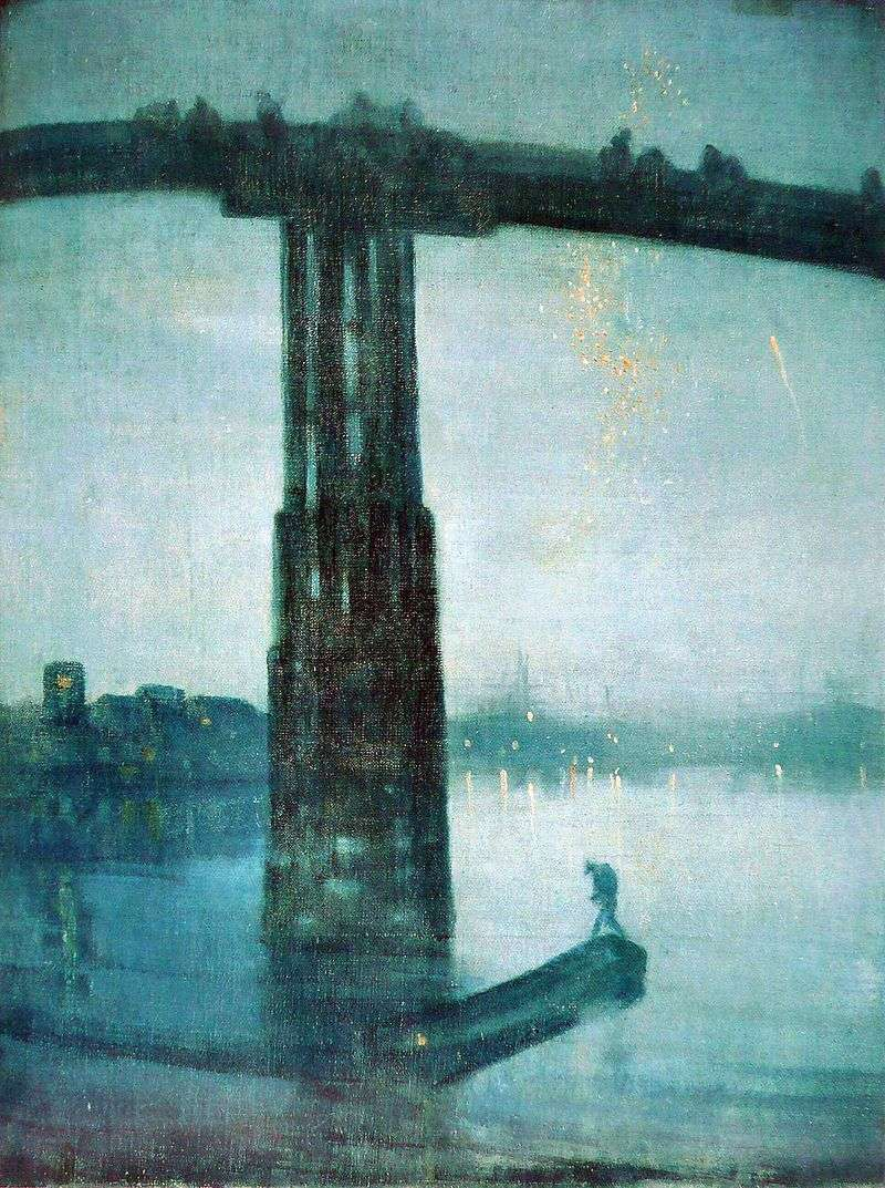 Nocturne in blue and gold: Old Bridge in Battersea by James Whistler