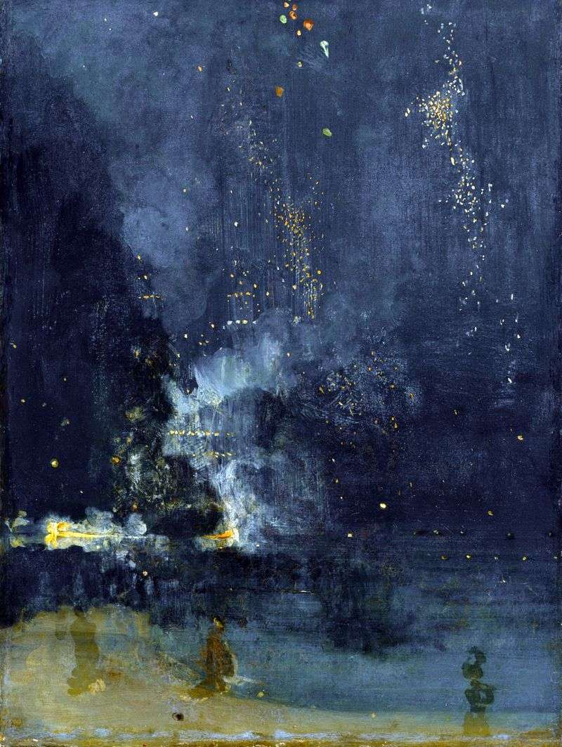 Nocturne in black and gold. Falling rocket by James Whistler