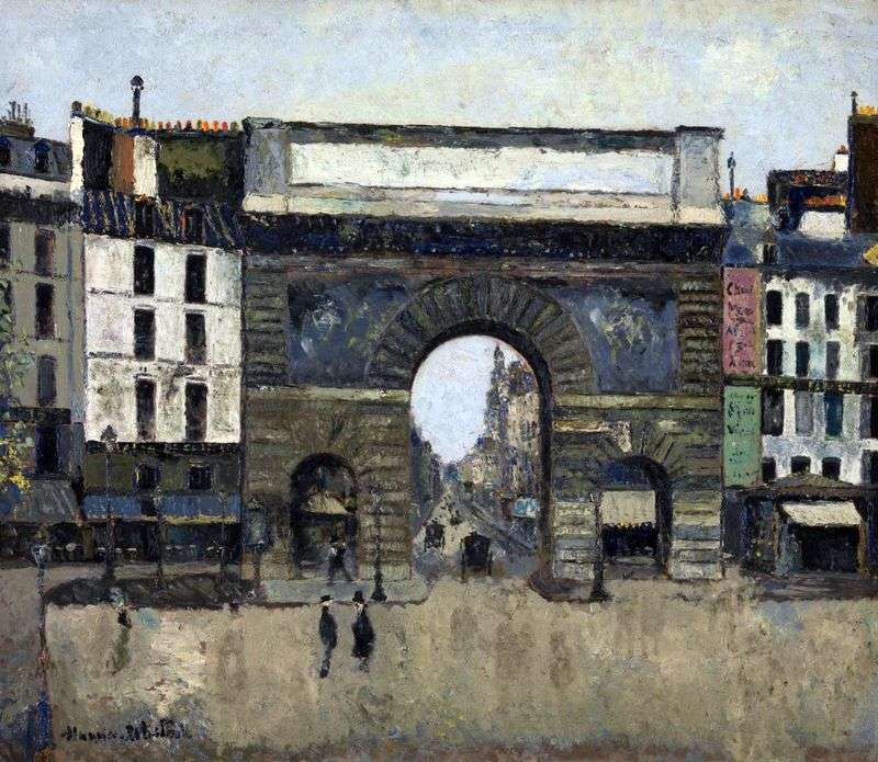 The Gate of Saint Hazartin by Maurice Utrillo