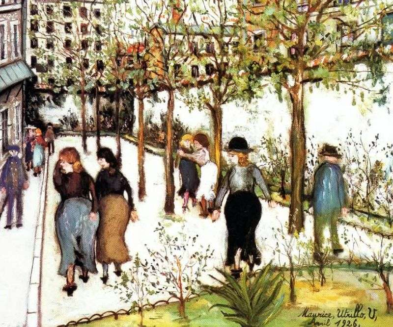Houses in Villiers by Maurice Utrillo