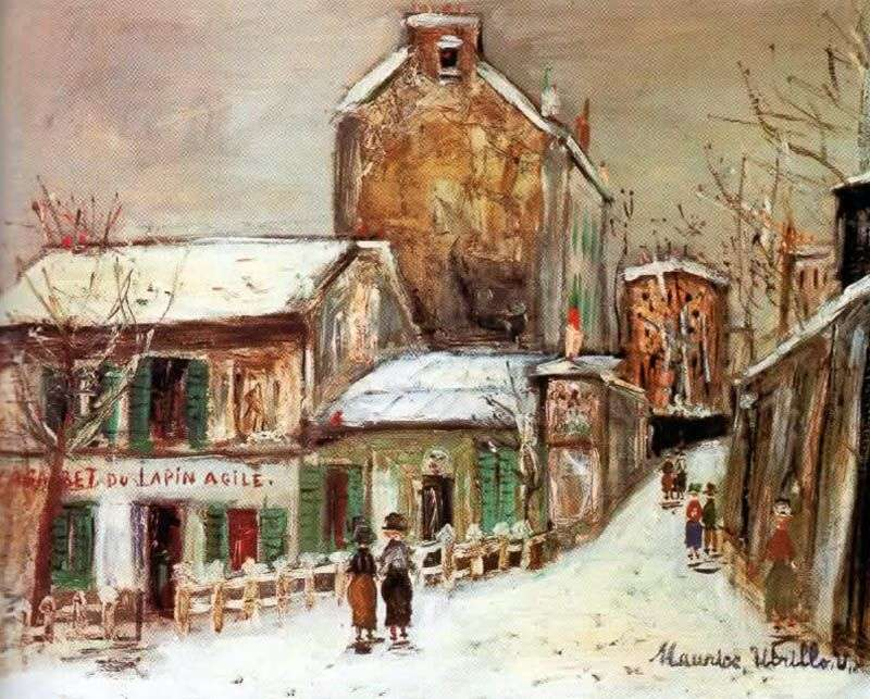 Café Sharp Rabbit by Maurice Utrillo