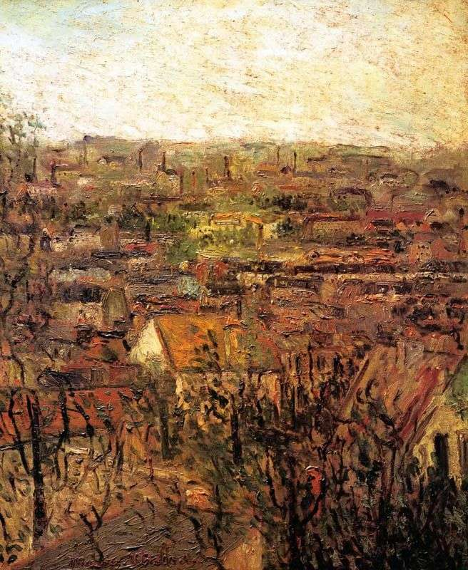 Roofs of Montagny by Maurice Utrillo
