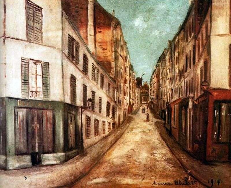 Paris Street by Maurice Utrillo