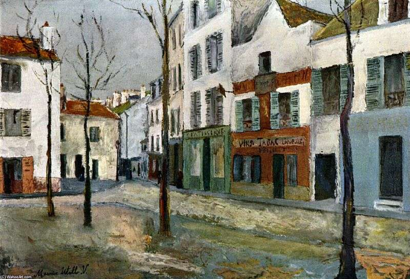Place du Tertre by Maurice Utrillo