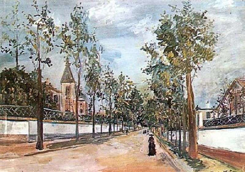 Street in the province by Maurice Utrillo