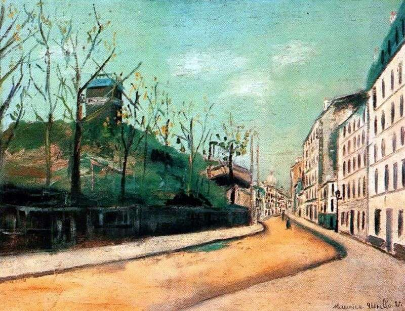 Lepic Street and Moulin de la Galette by Maurice Utrillo