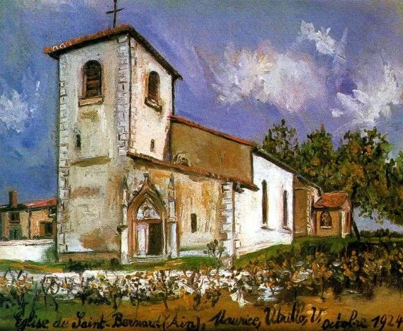 Church of Saint Bernard by Maurice Utrillo