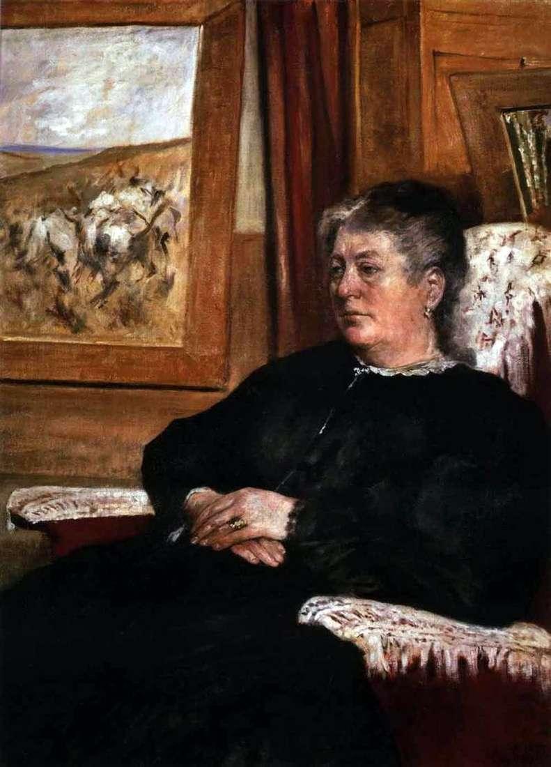 Portrait of his wife by Giovanni Fattori
