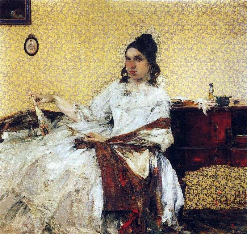 Portrait of N. Sapozhnikova by Nikolay Feshin